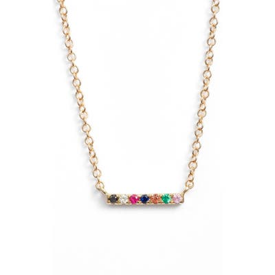 Ef Collection Mini Bar Rainbow Necklace