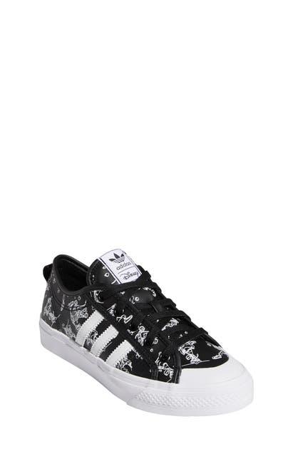 Adidas Originals Adidas Boys' Big Kids' Originals Nizza X Disney Sport Goofy Casual Shoes In Core Black/ftwr White