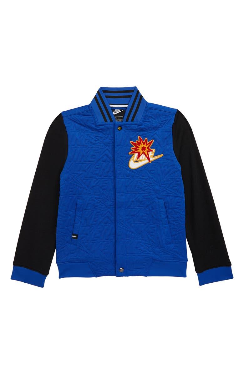 NIKE Sportswear DNA Bomber Jacket, Main, color, GAME ROYAL/ BLACK