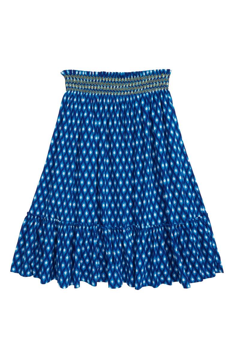 MINI BODEN Smocked Midi Skirt, Main, color, 424