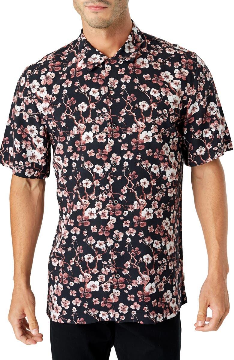 7 DIAMONDS Moon Palace Slim Fit Sport Shirt, Main, color, 001