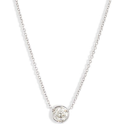 Bony Levy Large Bezel Diamond Solitaire Necklace (Nordstrom Exclusive)