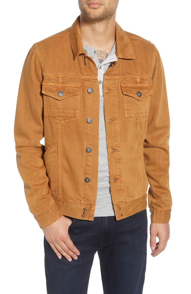 PAIGE Scout Denim Jacket, Main, color, VINTAGE GOLDEN NIGHT