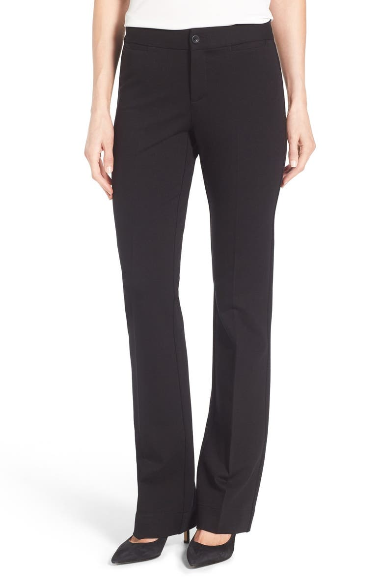 NYDJ Michelle Stretch Ponte Trousers, Main, color, 001