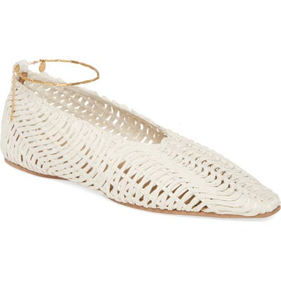 Stella Mccartney Wicker Ballet Flat With Ankle Bracelet