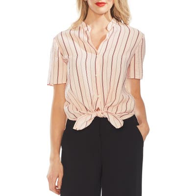 Vince Camuto Stripe Button Front Shirt, Pink