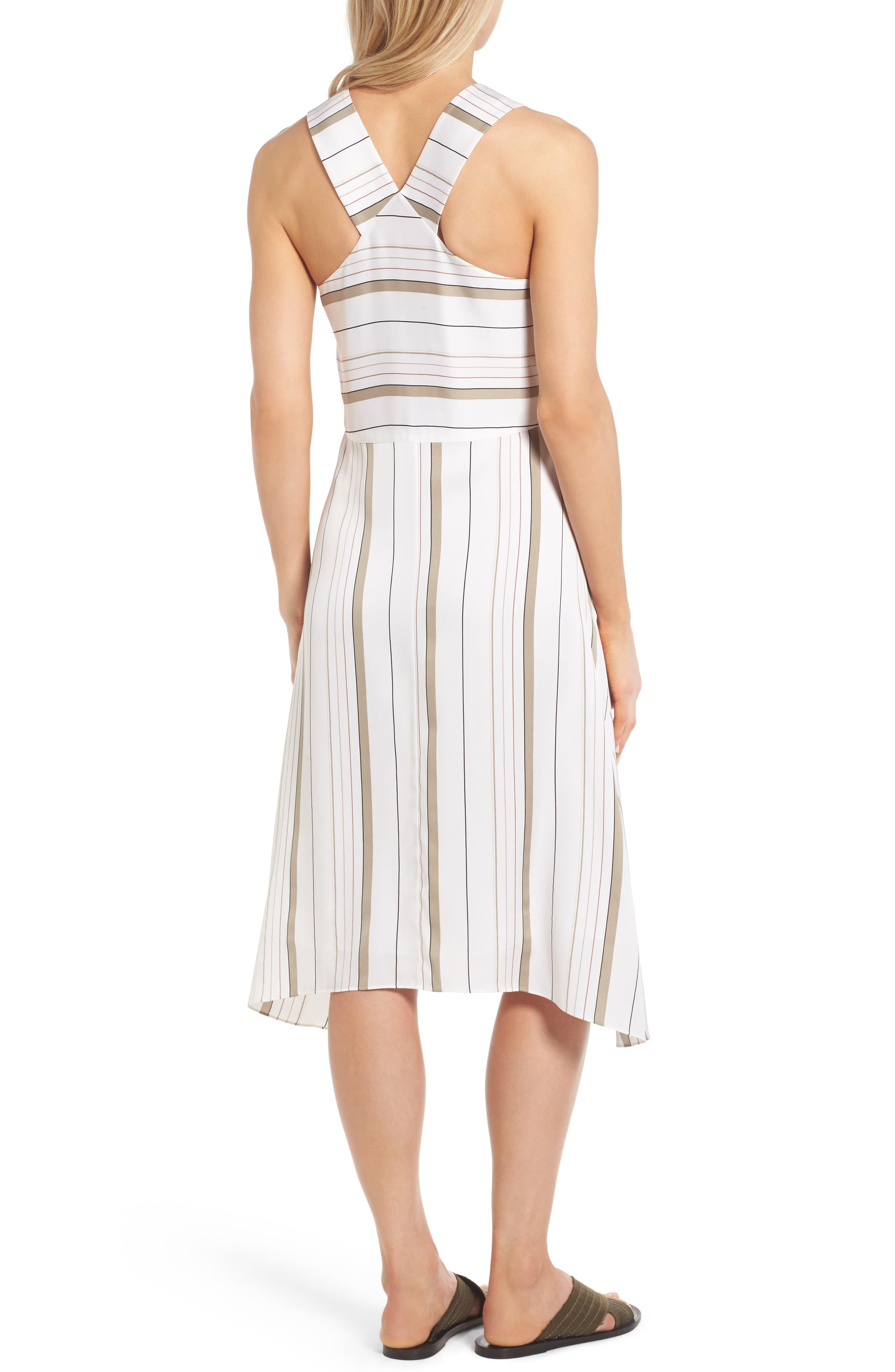 ,                             Stripe Stretch Silk Dress,                             Alternate thumbnail 2, color,                             900