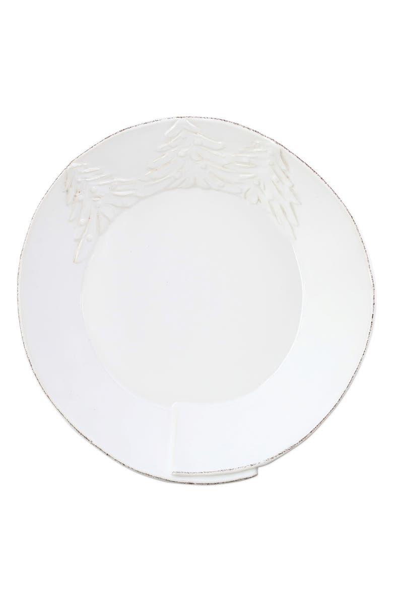 VIETRI Lastra Winterland Shallow Bowl, Main, color, WHITE