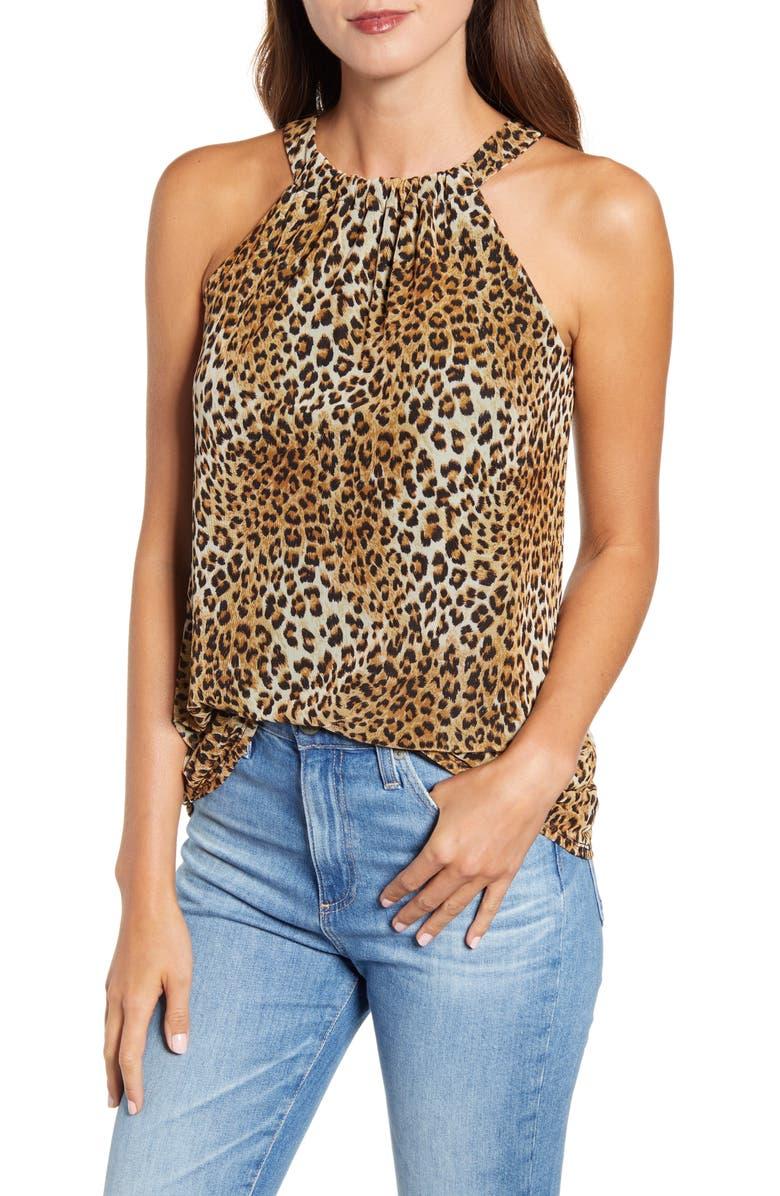 Leopard Print Mesh Tank by Loveappella