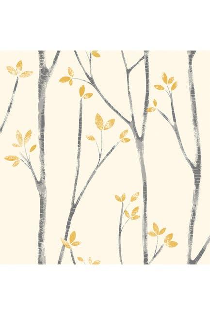 Image of WallPops! Ingrid Mustard Scandi Tree Wallpaper