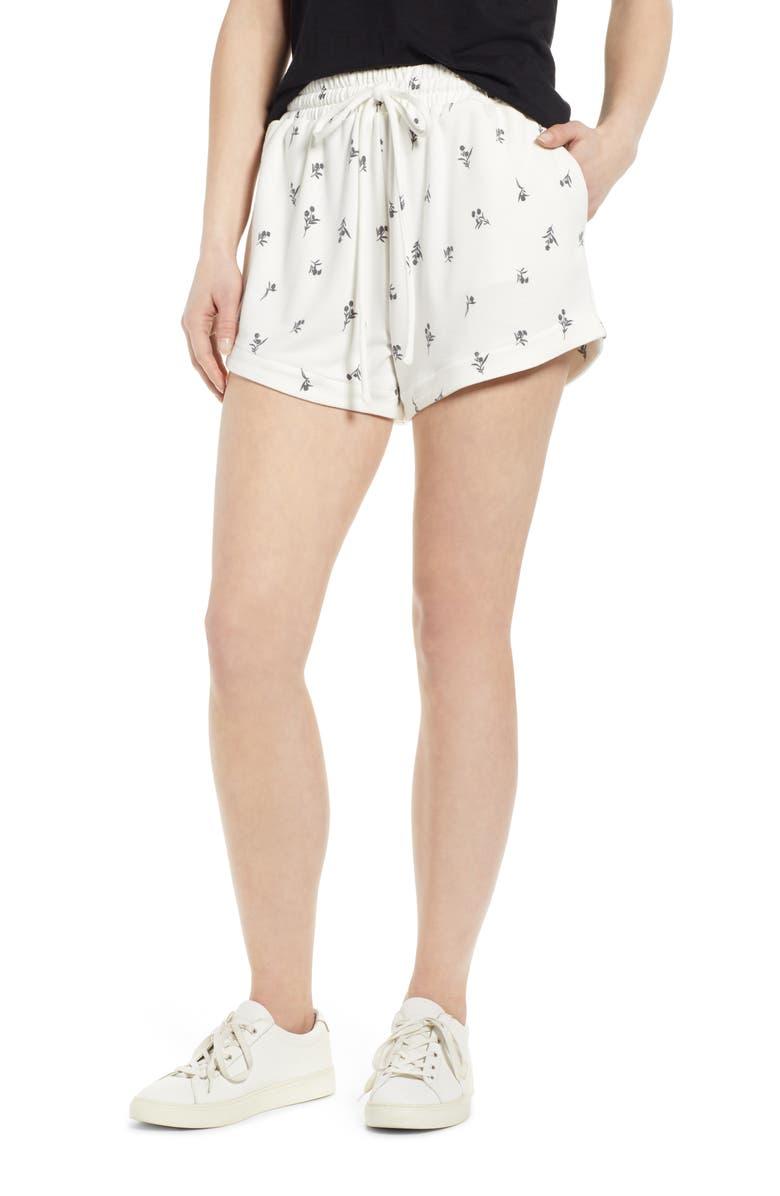 BOBEAU Tie Front Shorts, Main, color, 596