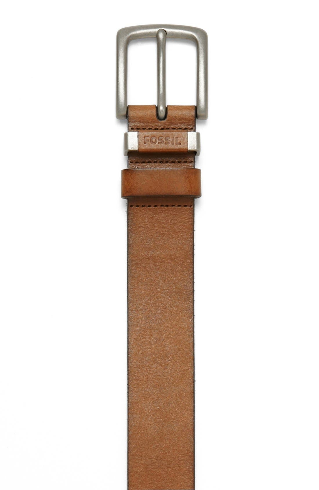 ,                             'Jay' Leather Belt,                             Alternate thumbnail 2, color,                             200