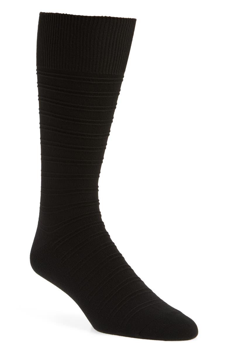 NORDSTROM MEN'S SHOP Ultrasoft Stripe Socks, Main, color, 001