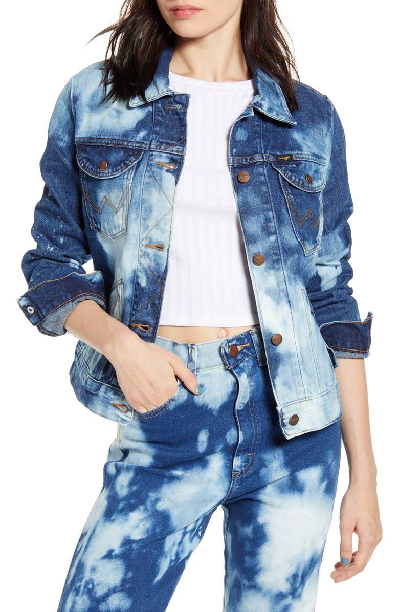 WRANGLER Bleached Denim Jacket, Main, color, BLEACH