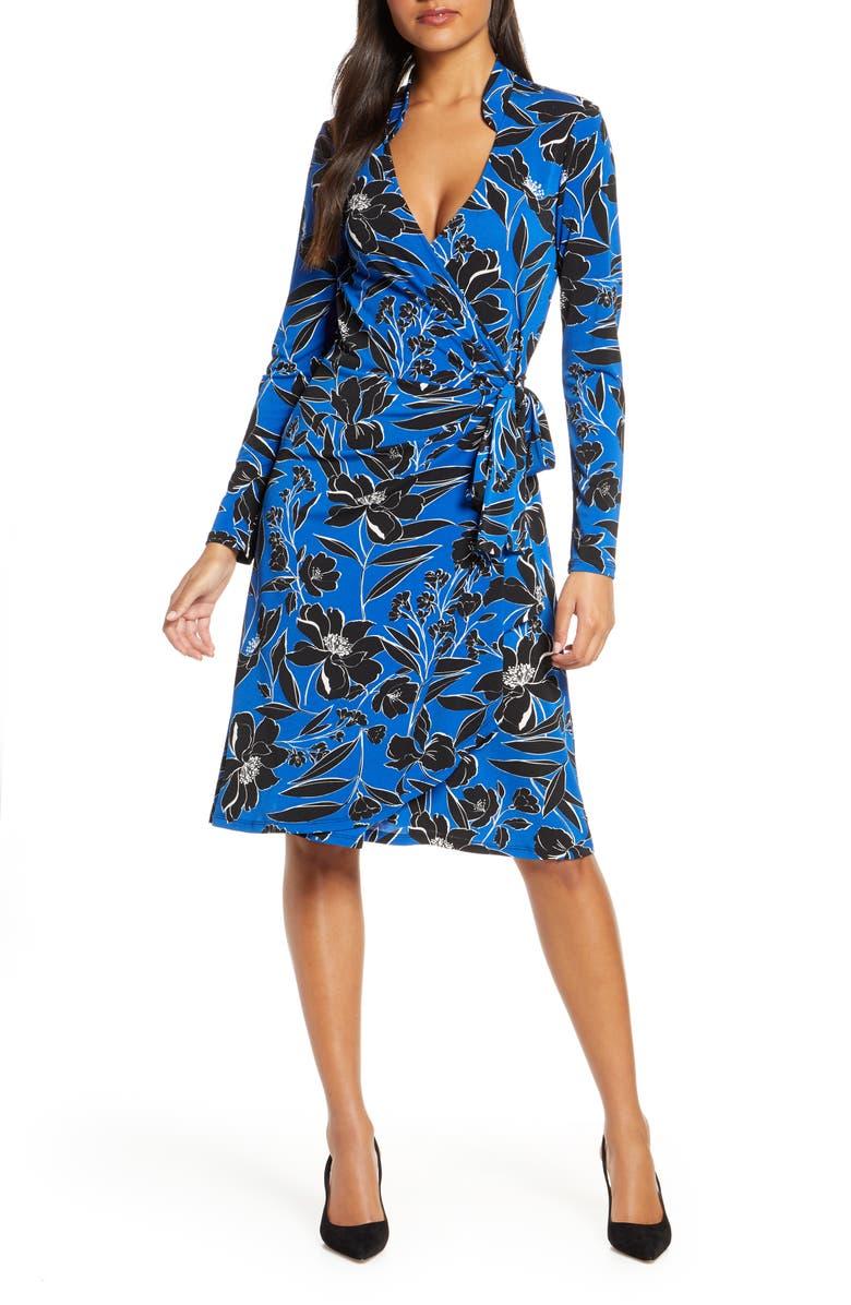 LEOTA Gabrielle Wrap Dress, Main, color, CLASSIC FLORAL