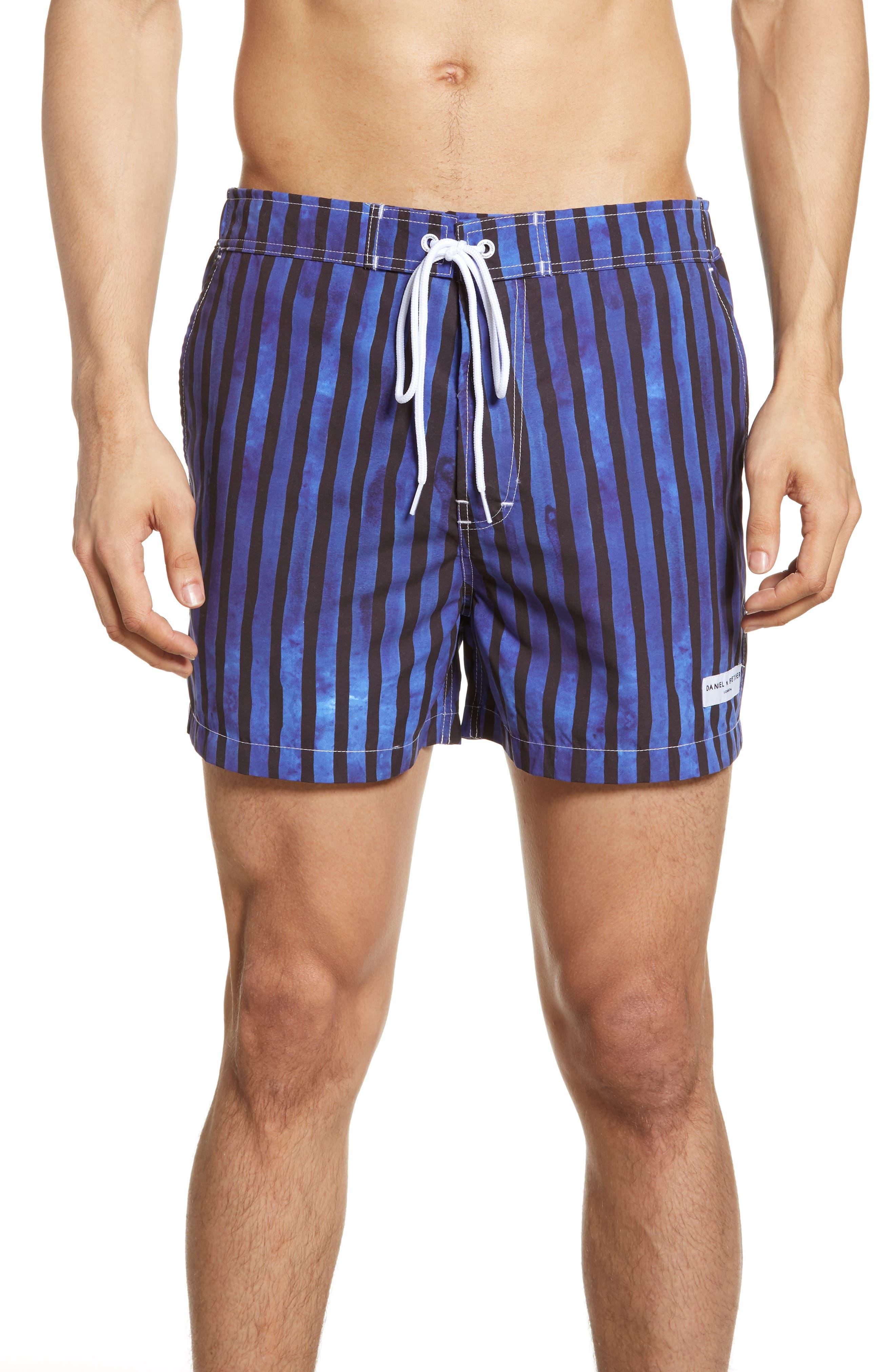 Boardies Multistripe Swim Trunks, Blue