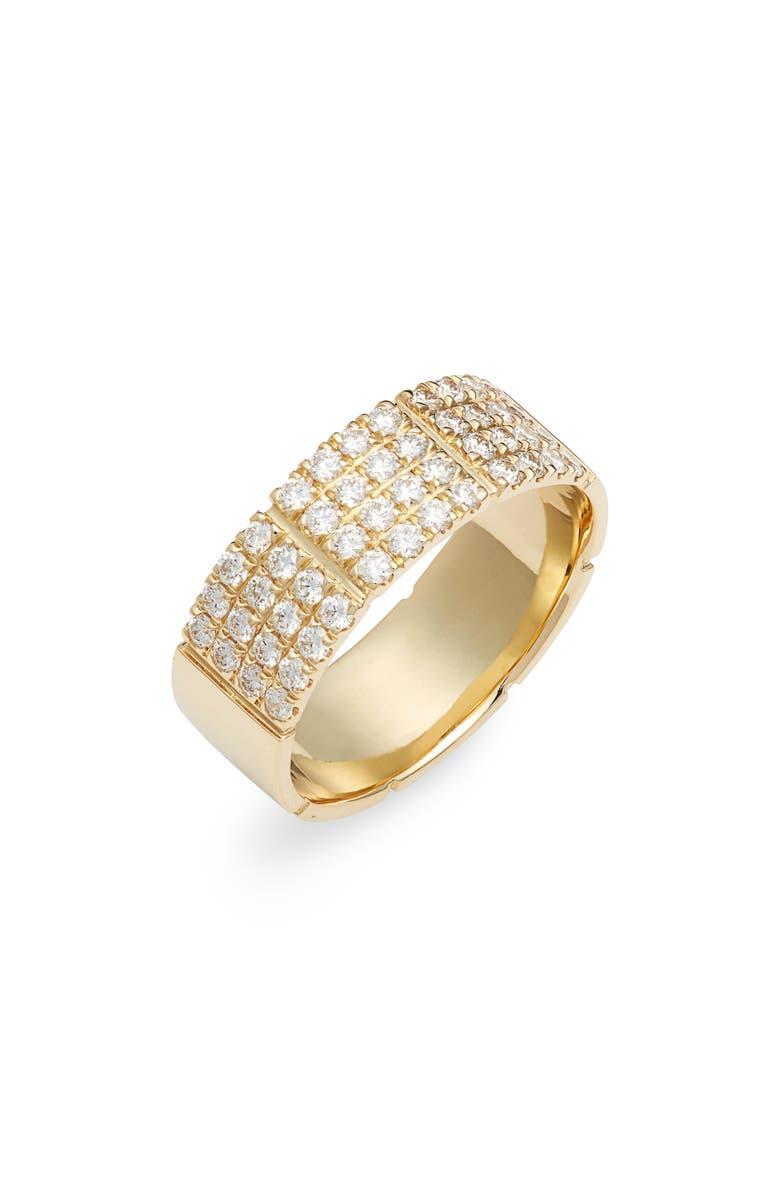 BONY LEVY Katherine Pavé Diamond Ring, Main, color, YELLOW GOLD/ DIAMOND