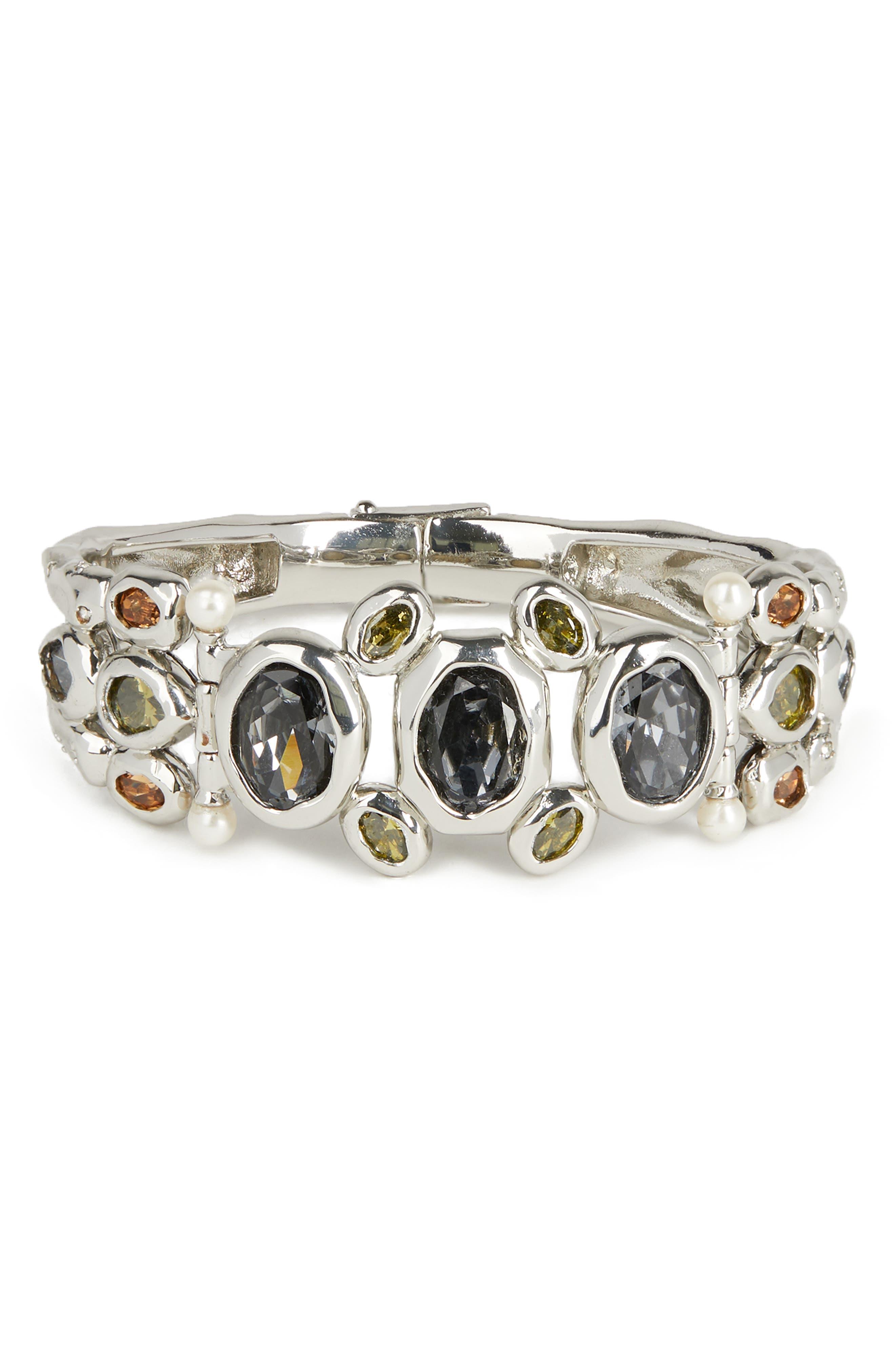 Image of Alexis Bittar Byzantine Stone Cluster Hinge Bracelet