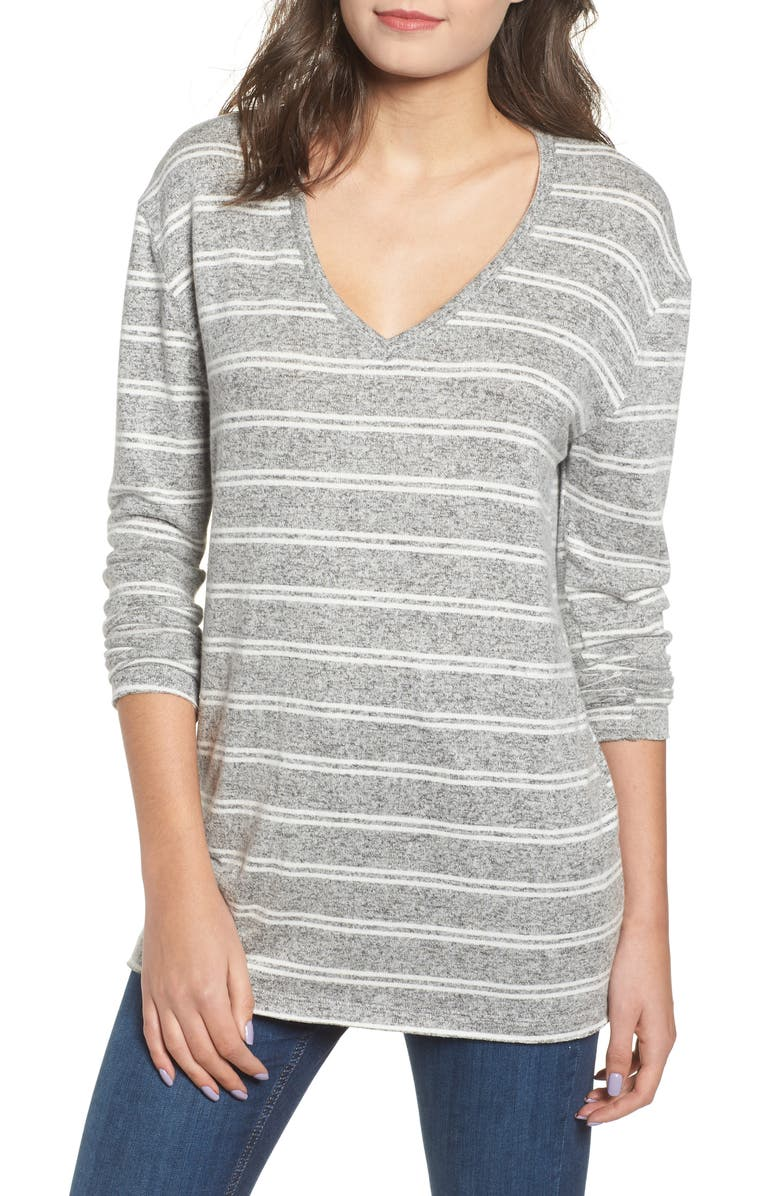 BP. Cozy V-Neck Sweater, Main, color, 050