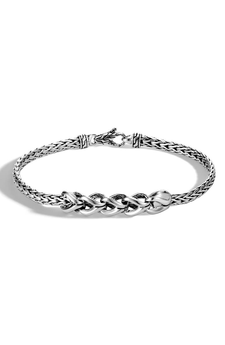 JOHN HARDY Slim Asli 3.5mm Chain Bracelet, Main, color, SILVER