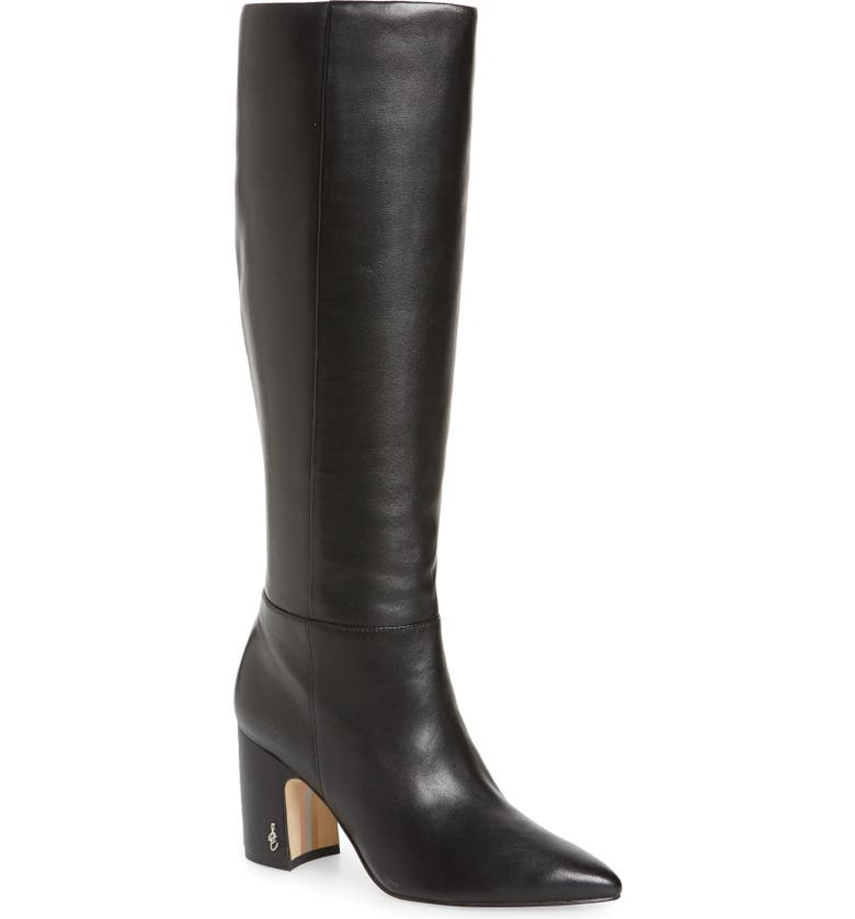SAM EDELMAN Hiltin Knee High Boot, Main, color, BLACK LEATHER