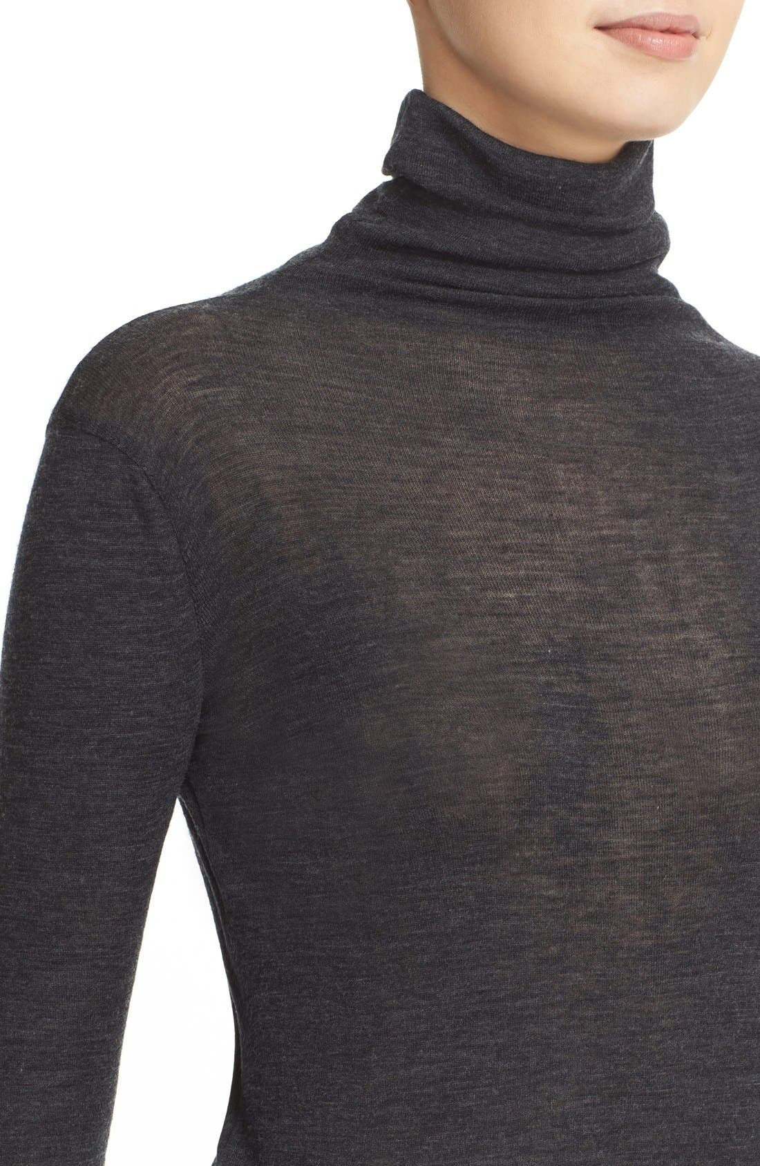 ,                             Lightweight Wool Funnel Neck Sweater,                             Alternate thumbnail 8, color,                             020