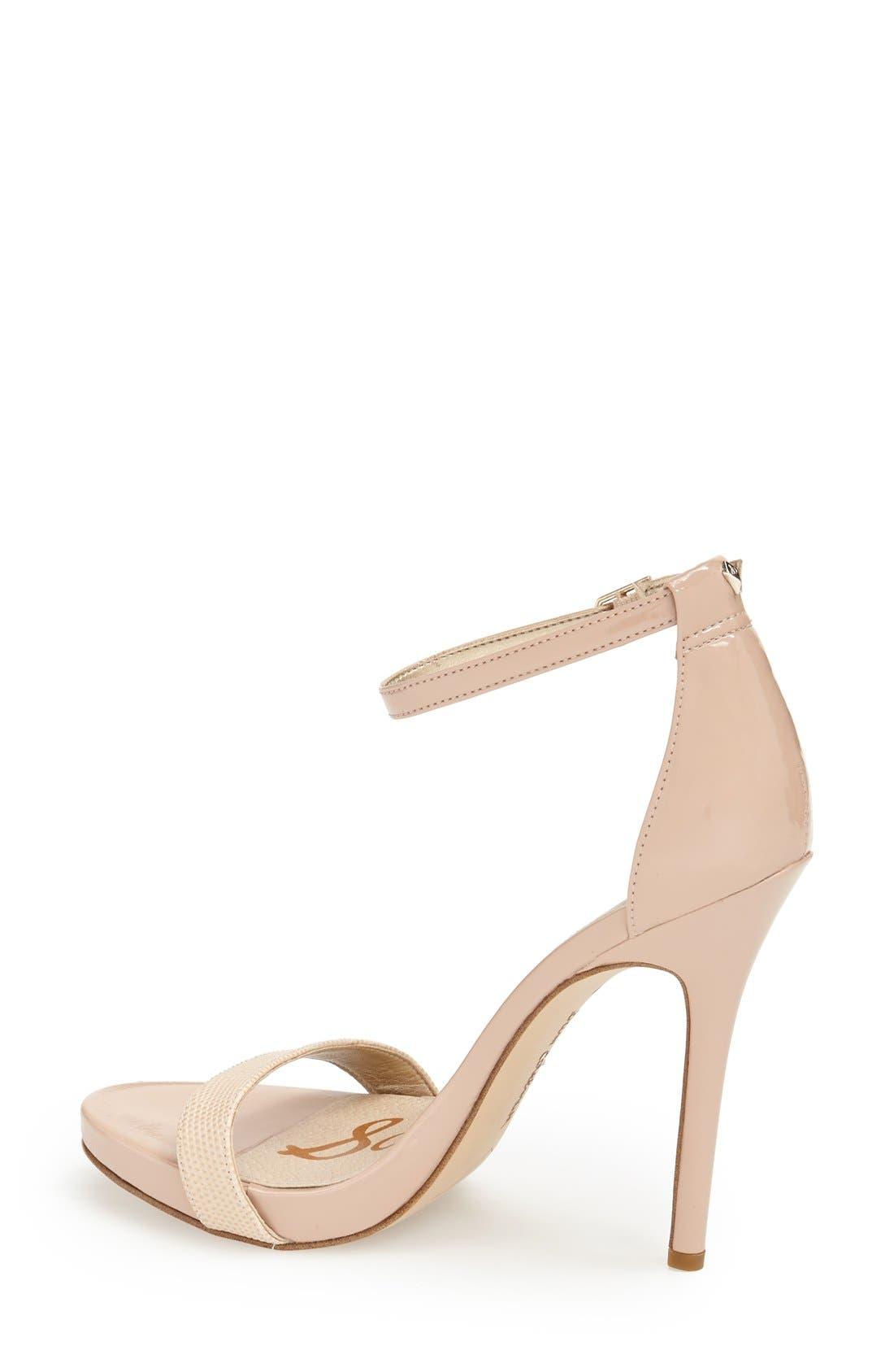 ,                             'Eleanor' Ankle Strap Sandal,                             Alternate thumbnail 110, color,                             255