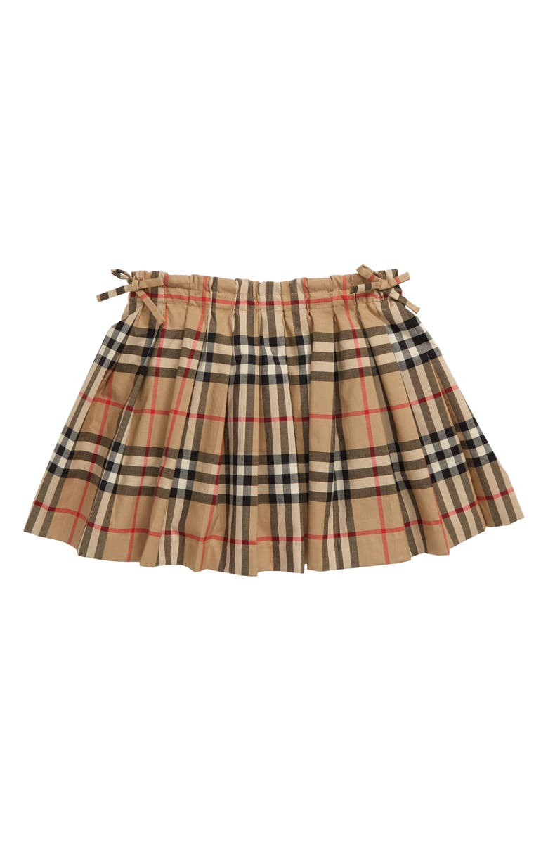 BURBERRY Pearly Check Skirt, Main, color, ARCHIVE BEIGE IP CHK
