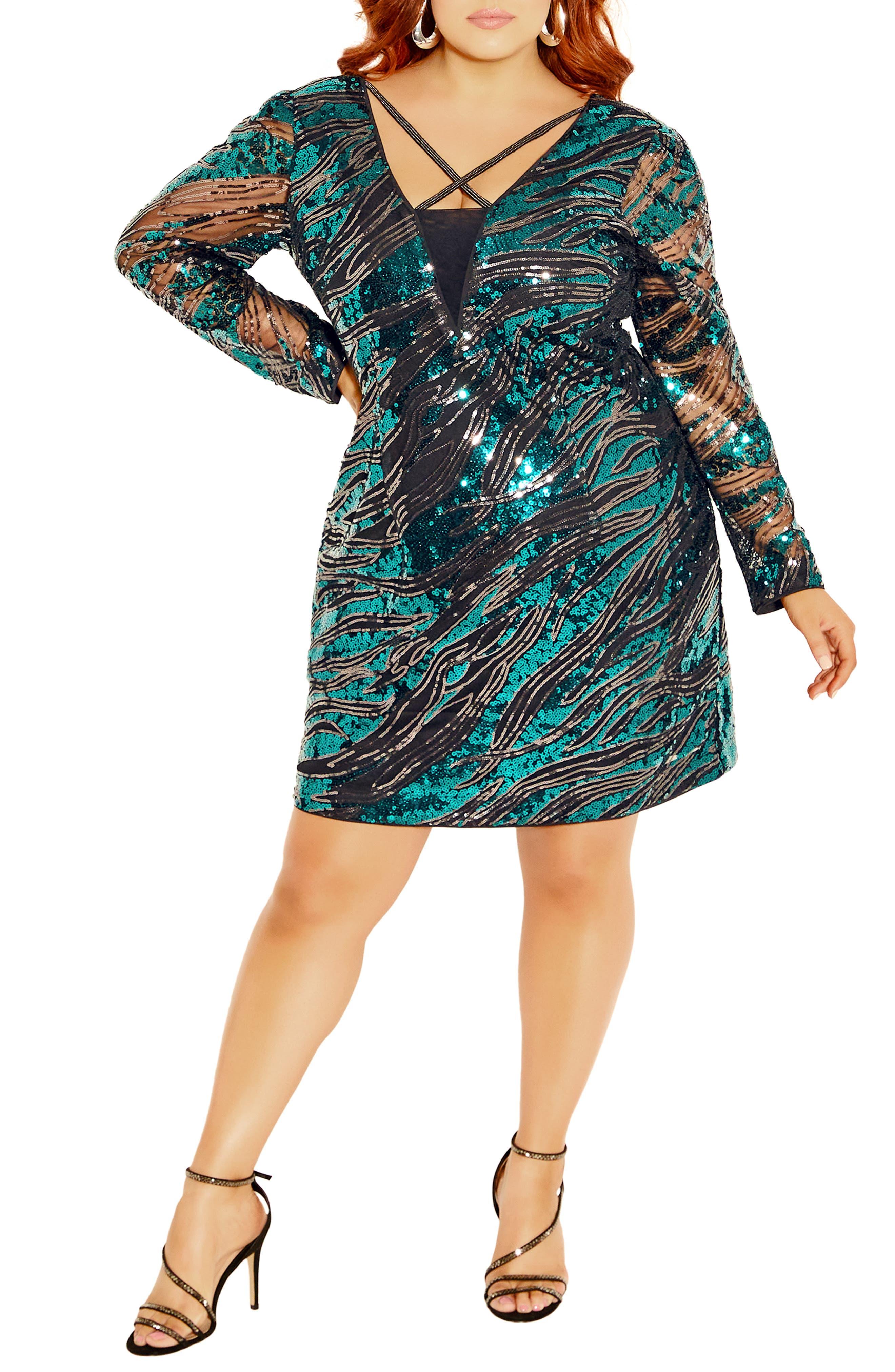 Divinity Sequin Long Sleeve Dress