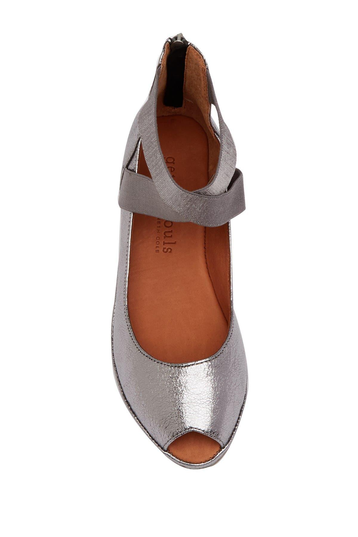 Lisa Leather Peep Toe Wedge