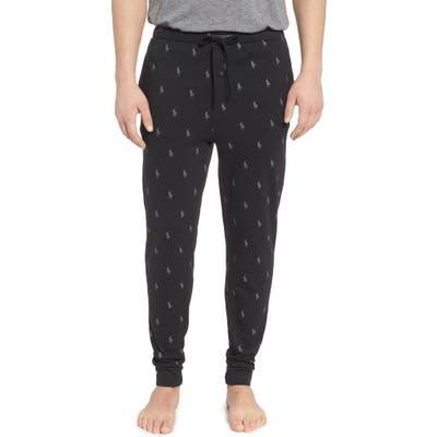 Polo Ralph Lauren Pony Print Pajama Pants, Black