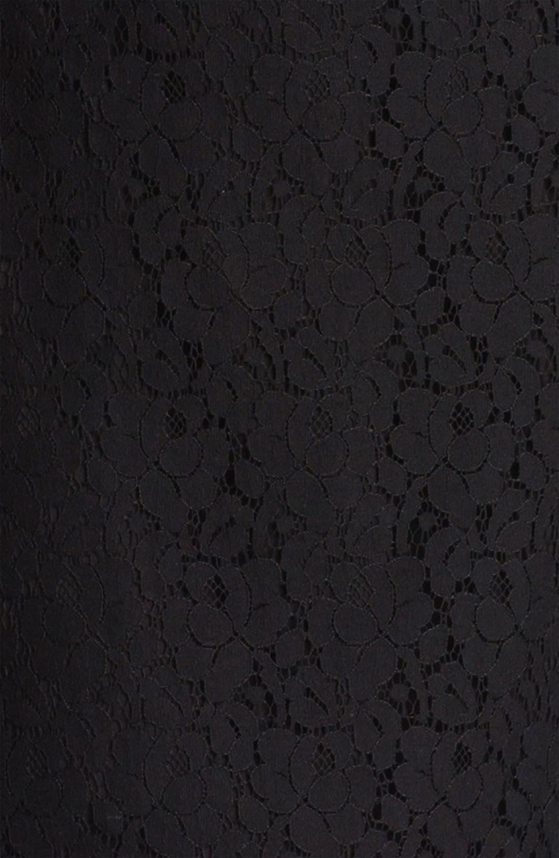 ,                             Lace Peplum Top,                             Alternate thumbnail 4, color,                             001