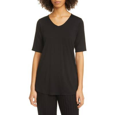 Eileen Fisher V-Neck Tunic Top, Black