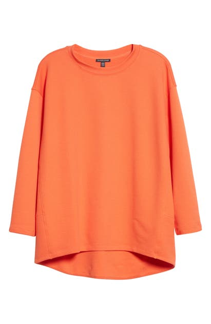 Eileen Fisher Tops ORGANIC COTTON KNIT TWILL HIGH/LOW TOP
