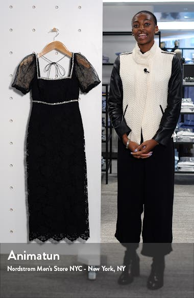 Bead Trim Lace Midi Dress, sales video thumbnail