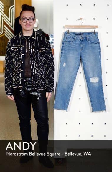 Cara Ripped Slim Straight Leg Jeans, sales video thumbnail