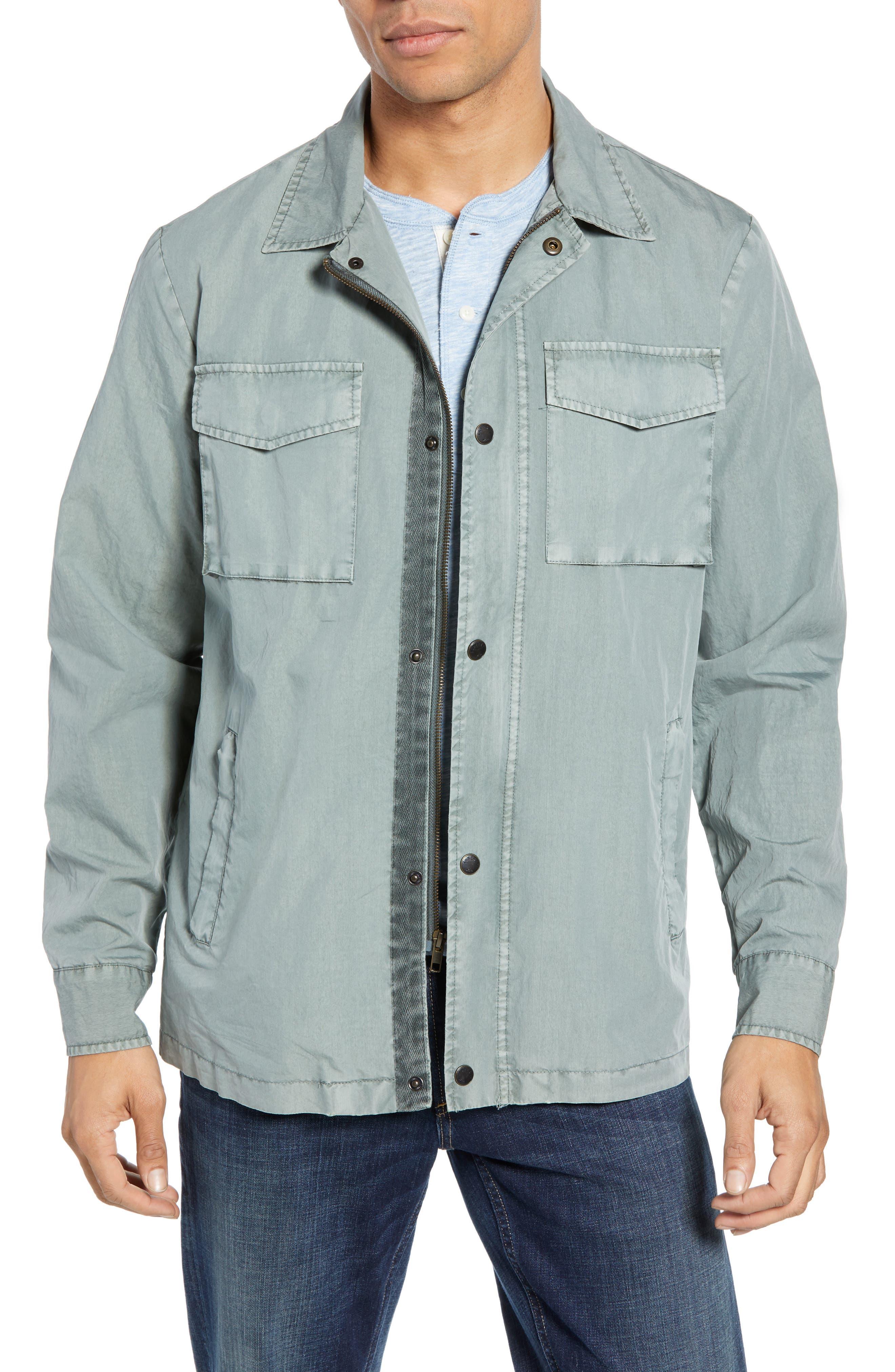 Faherty Civilian Regular Fit Zip Jacket, Green