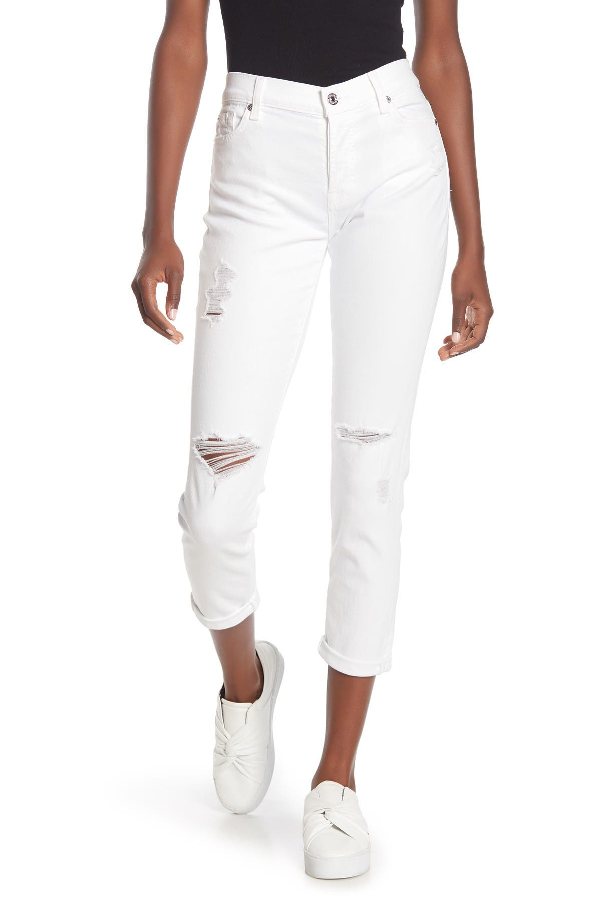 Image of 7 For All Mankind Josefina Distressed Jeans