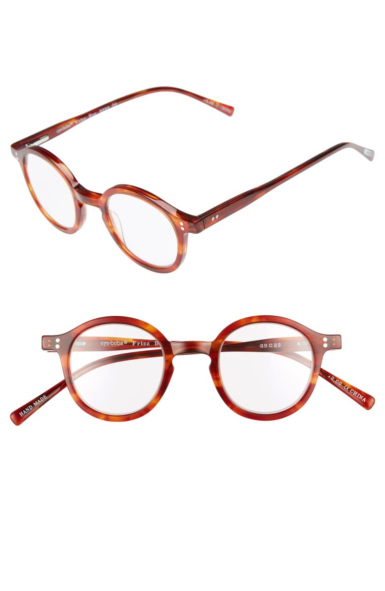 EYEBOBS Frizz Bee 39mm Reading Glasses, Main, color, ORANGE TORTOISE