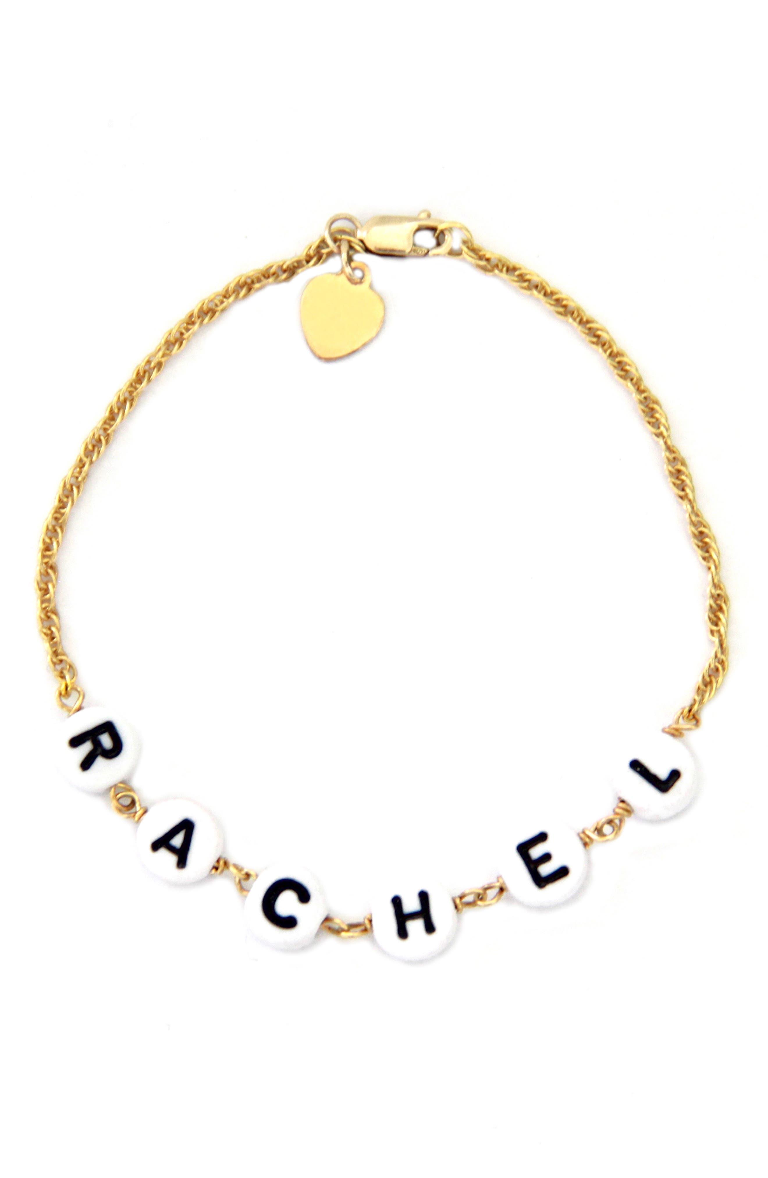 Beaded Baby Name Bracelet