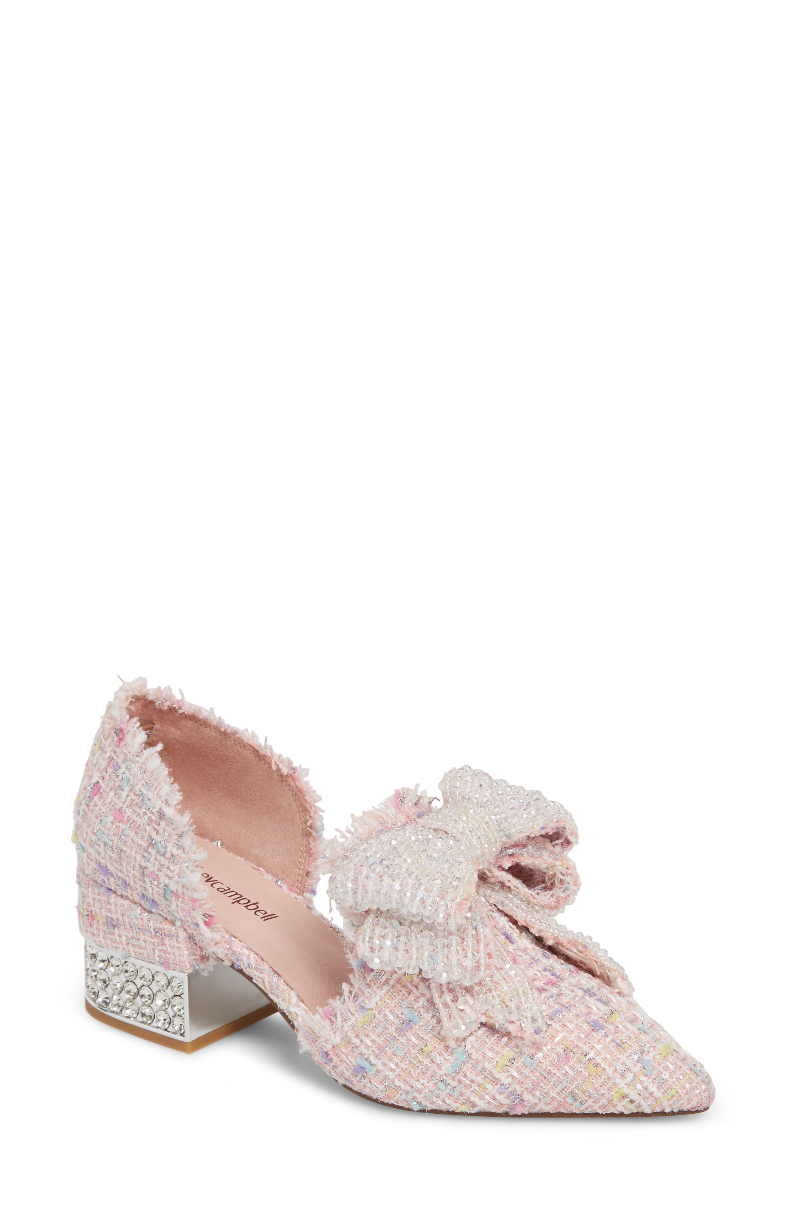 Jeffrey Campbell Valenti Embellished Bow Loafer- Pink