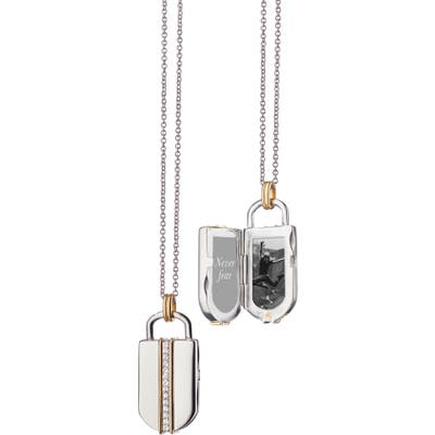 Monica Rich Kosann White Sapphire Locket