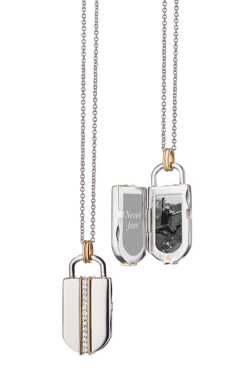 MONICA RICH KOSANN White Sapphire Locket, Main, color, 710