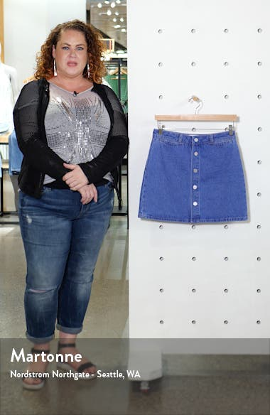 Esma High Waist Denim Miniskirt, sales video thumbnail