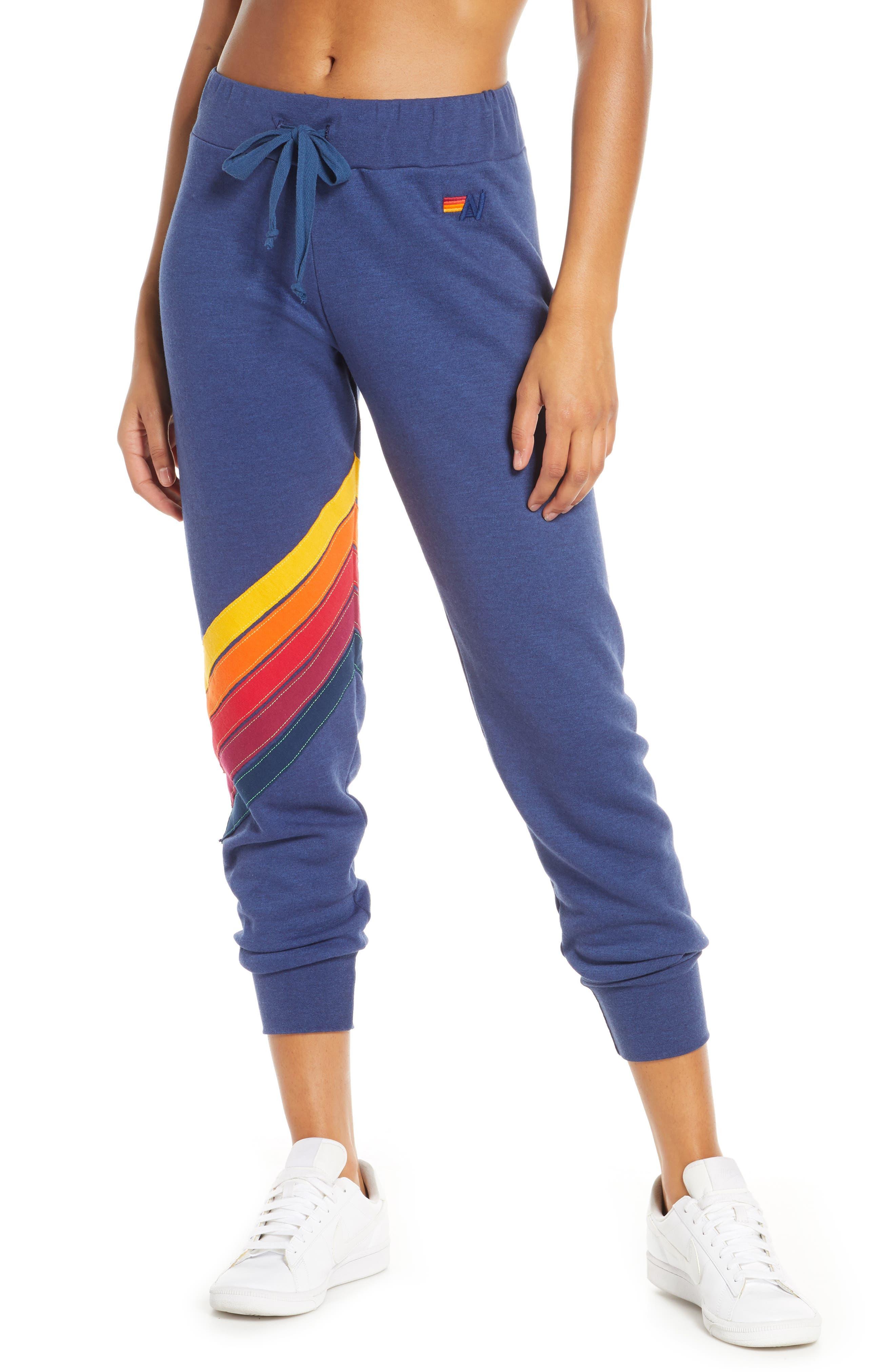 Women's Aviator Nation Cross Stripe Sweatpants