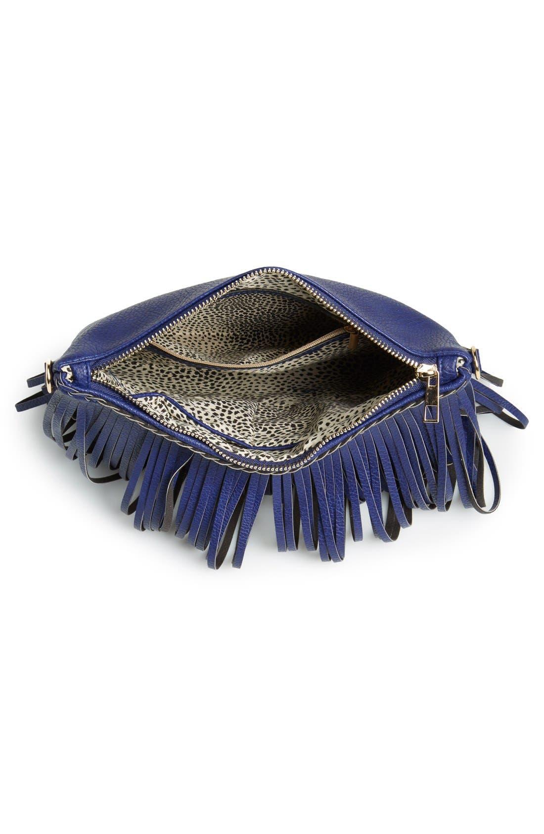 ,                             'Rose' Fringe Faux Leather Convertible Crossbody Bag,                             Alternate thumbnail 18, color,                             410