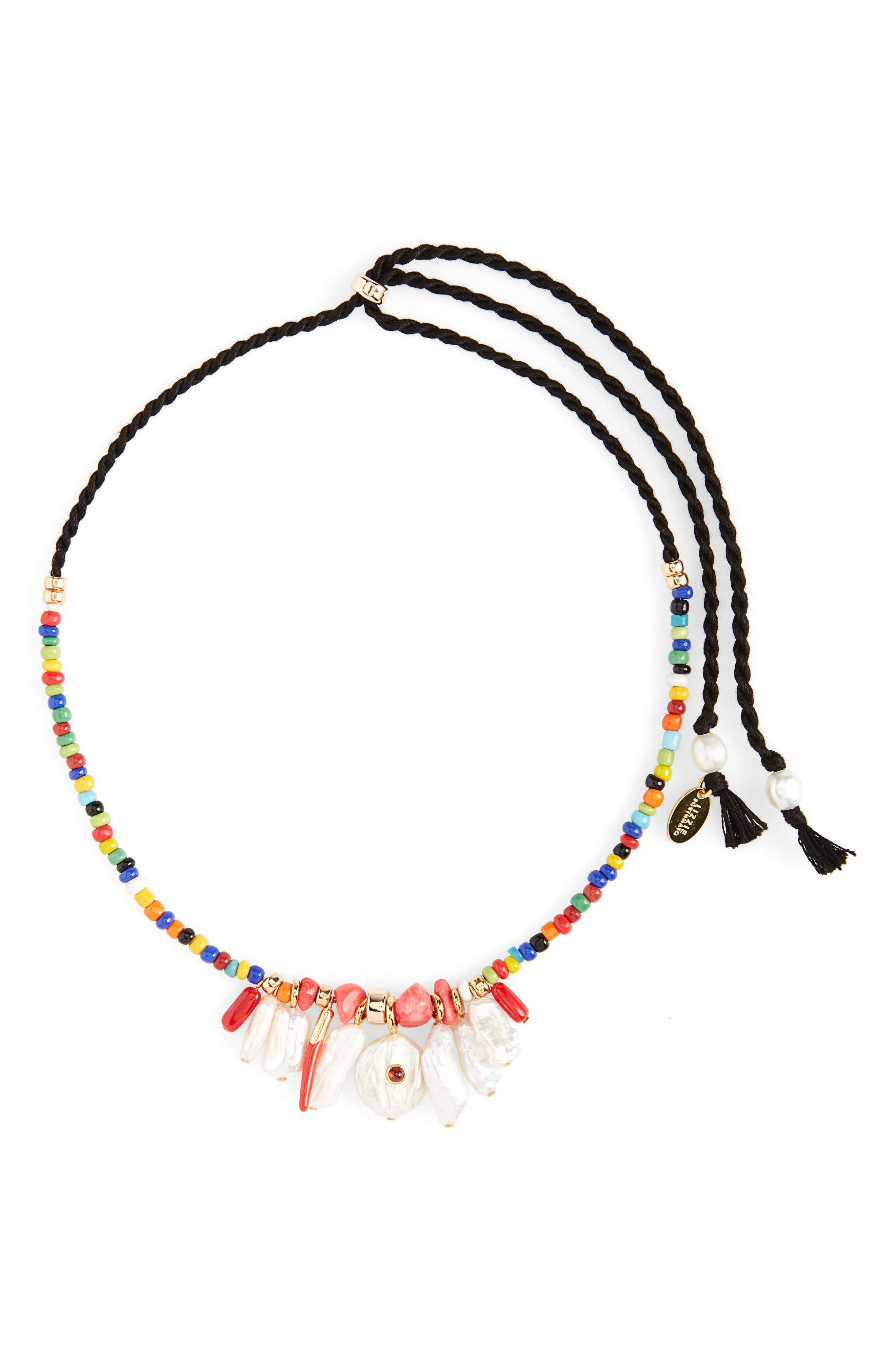 Isola Genuine Pearl Charm Beaded Necklace