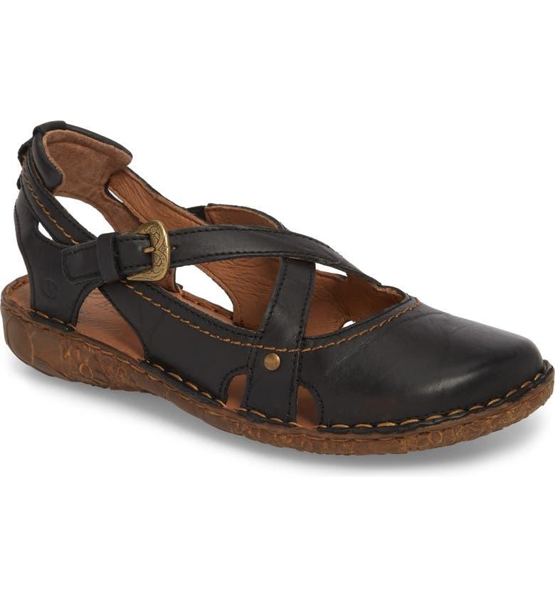 JOSEF SEIBEL Rosalie 13 Sandal, Main, color, BLACK LEATHER