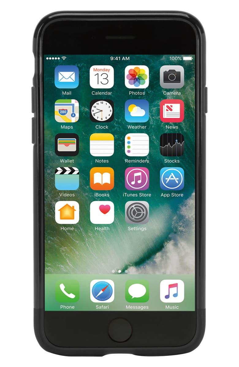 INCASE DESIGNS Protective iPhone 7/8 Case, Main, color, BLACK