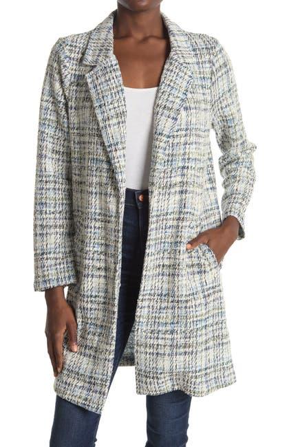 Image of MELLODAY Plaid Knit Coat